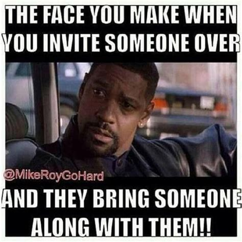 Make Meme Text - when you invite someone who invites another thatface