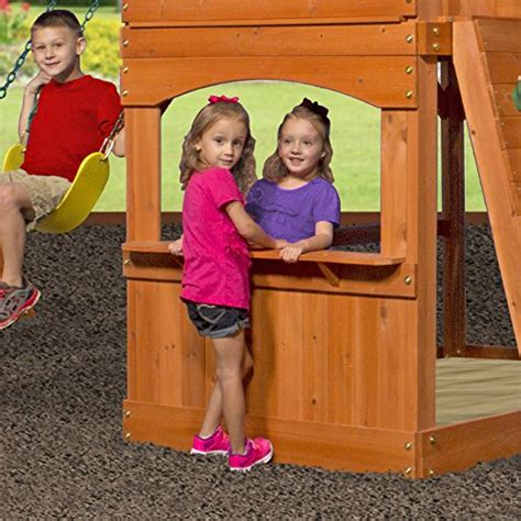 backyard discovery atlantis backyard discovery atlantis all cedar wood playset swing set endurro the best kids