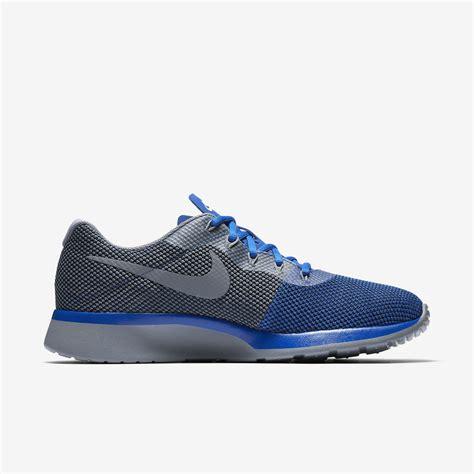 Nike Running Grey nike mens tanjun racer running shoe blue black wolf