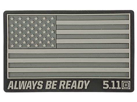 Patch Rubber Patch Pvc Akademi Kepolisian Airsoft 5 11 tactical quot us flag always be ready quot pvc hook and