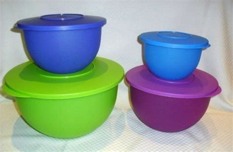 Tupperware Serve It Bowl 4 Pcs tupperware 4 pc impressions classic mixing bowl set by tupperware 66 99 kitchen dining