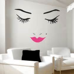 beautiful face wall decal lips wall decals wall decal butterfly girl removable wall art sticker vinyl decal diy