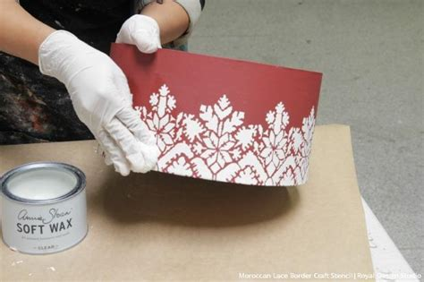 how to decorate stencil christmas gift boxes royal