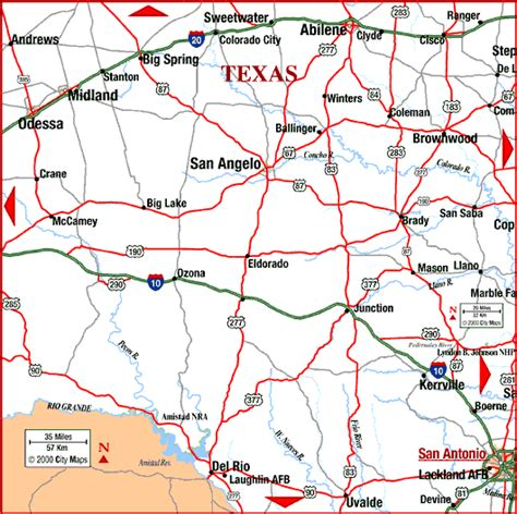 highway map of texas central texas map
