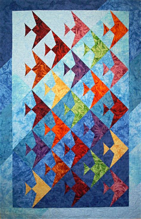 Patchwork Fish Pattern - a quilted of fin fully easy fish lazy designs