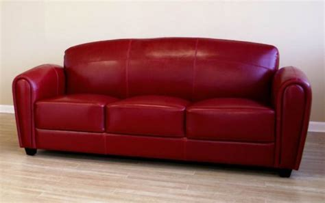 small red sofa small red leather sofas for vibrant small living area in