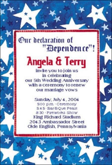 4th of july invitation templates pin by elko on anniversary