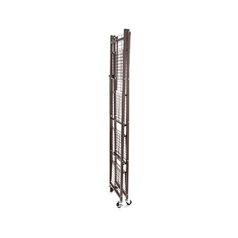 origami folding rack origami steel folding 2 drawer pantry rack with wheels
