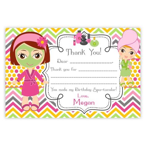 Salon Thank You Card Template by Spa Thank You Card Pink Orange Chevron