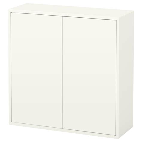 Ikea Storage Cabinets With Doors Eket Cabinet W 2 Doors And 2 Shelves White 70x25x70 Cm Ikea