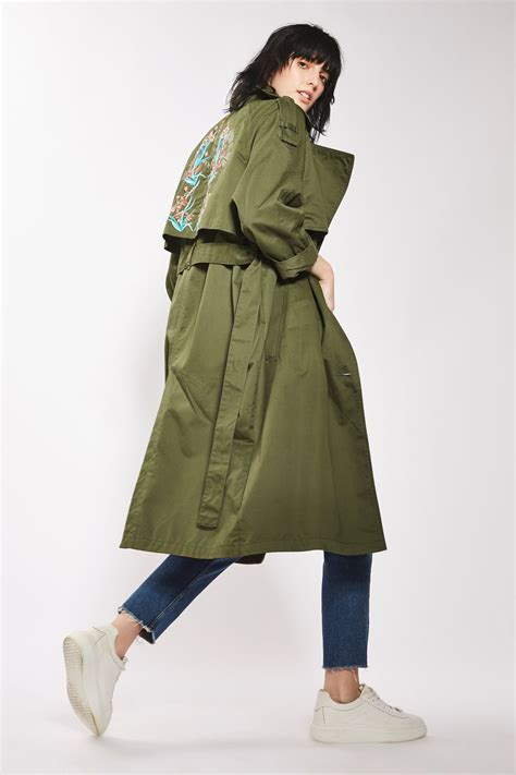 Embroidered Trench Coat embroidered trench coat topshop usa