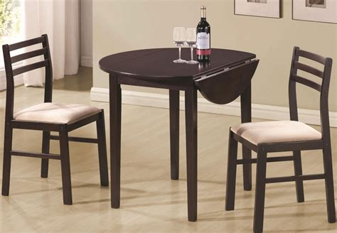 accent chair and table set coaster drop leaf table and two side chairs in cappuccino