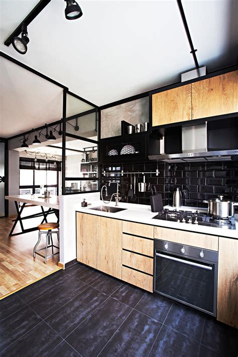 edgy home decor this industrial hdb flat is edgy yet cosy home decor