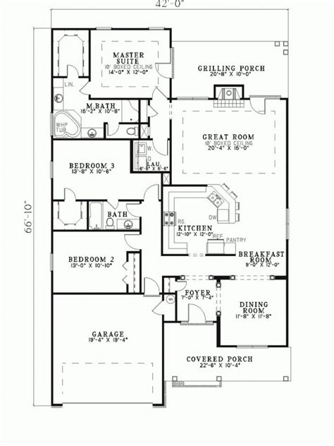 narrow lot ranch house plans ranch house plans for narrow lot archives new home plans