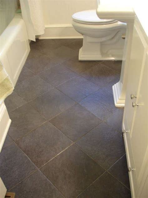 slate tile bathroom floor black slate tiles bathroom makeover house decor i love pinte