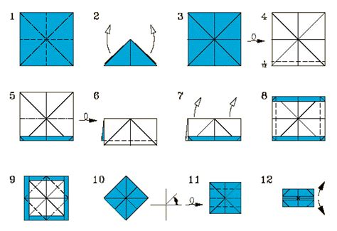 How To Fold A Paper Box - folding diagrams for jasper s box p 1 of 3 steps 1 12