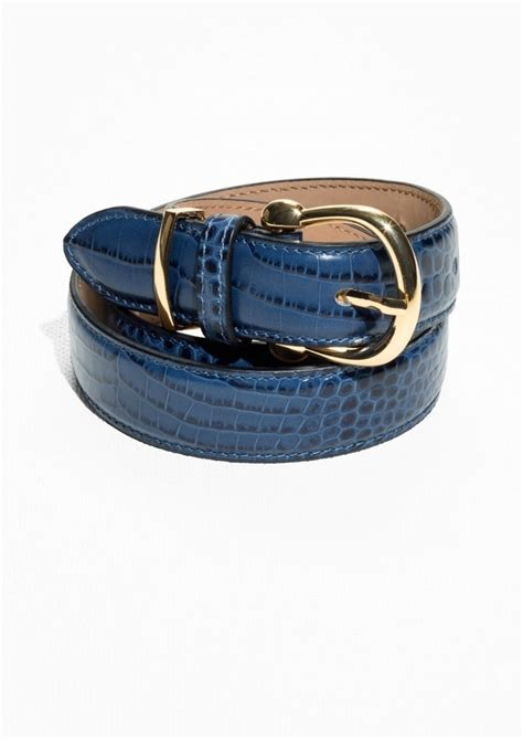 Belt Croco croco leather belt endource