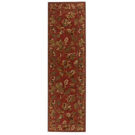 home depot rug runners home decorators collection governor rust 2 ft 3 in x 8 ft rug runner 4388775180 the home depot