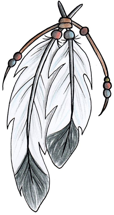 tribal eagle feather tattoo american style feathers design