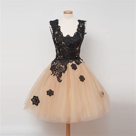 6 Of The Best Black White Inspired Dresses by Vintage Gown Chagne Homecoming Dresses With Black