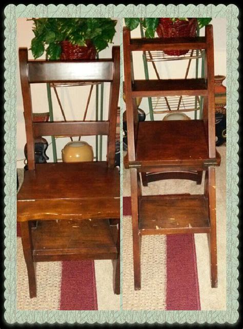 Ben Franklin Chair Step Stool by Step Ladder Chair Wooden Folding Solid Wood Ben Franklin