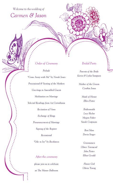 Sophisticated Wedding Program