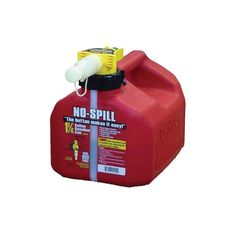 Lu Gas Proof no spill no spill 1 25 gal poly gas can 1415 v6 the