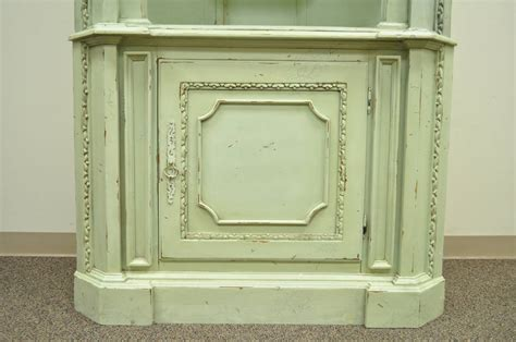 distressed 20th c shell carved country style
