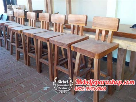 Kursi Cafe Bar kursi bar cafe trembesi mebel jepara shop