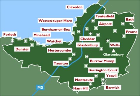map uk somerset somerset in pictures