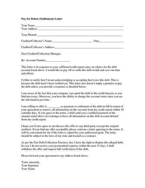 Lovely Pay For Delete Letter Cover Letter Exles Pay For Delete Letter Template