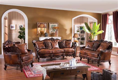 Formal Living Room Furniture Dallas Pennington Formal Leather Living Room Set