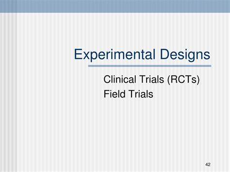 clinical trial experimental design ppt overview of research methods in dentistry powerpoint