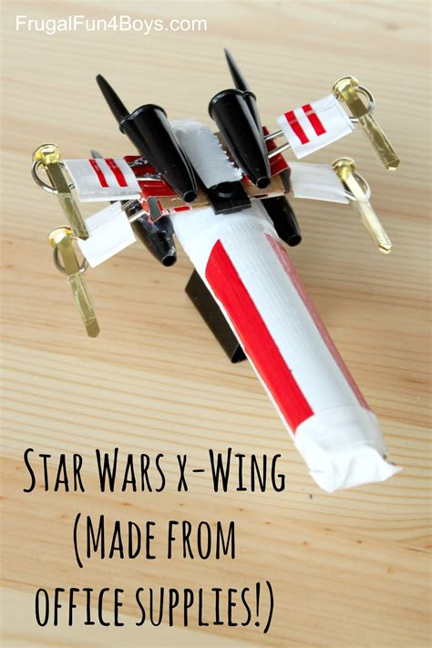 How To Make A Paper X Wing Fighter - how to make a wars x wing starfighter out of office