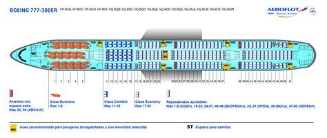 boeing 777 300er sieges flota de aviones aeroflot