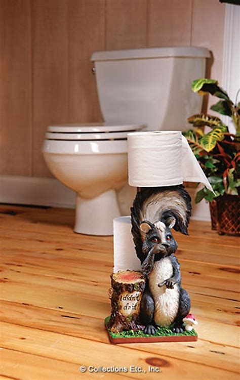 funny skunk toilet paper holder      collectionsetccom  hot deals