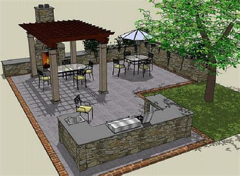 Outdoor Kitchen Designs Plans 24 Photos And Inspiration Outdoor Kitchen Plan House Plans 65365