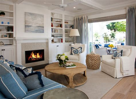 livingroom fireplace coronado island house with coastal interiors home