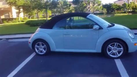 baby blue volkswagen beetle 2004 volkswagen beetle convertible youtube