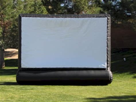 backyard movie screen rentals inflatable outdoor movie screen rental partytime rentals