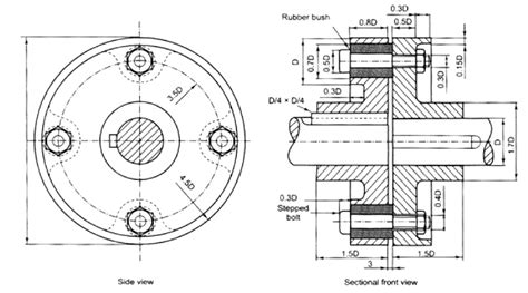 sectional views in machine drawing pin machine drawing on pinterest