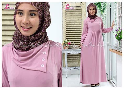 Gamis Dress Baju Muslimah Violet Ummina dress muslim terbaru harga murah