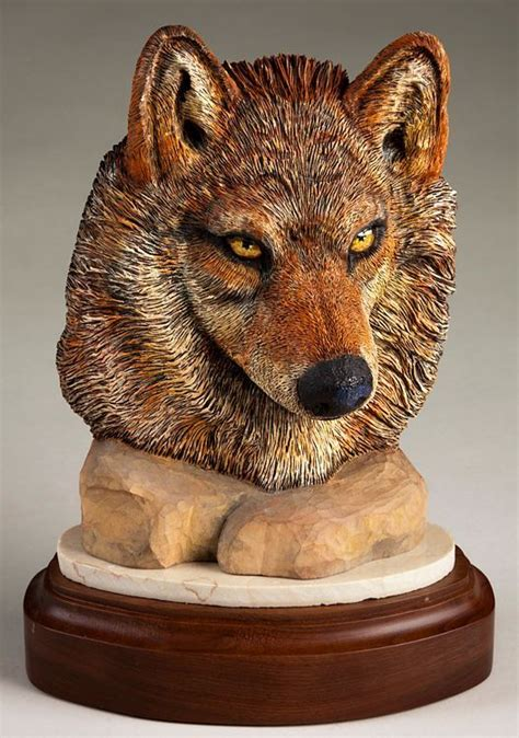 wolf face sculpture daytoncarverscom wood carving