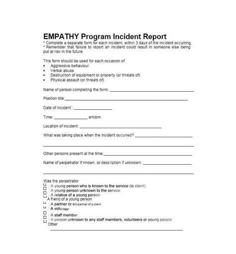 generic incident report template 60 incident report template employee generic template lab
