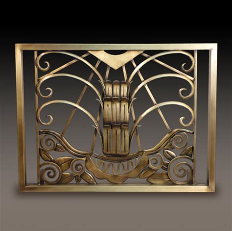 art deco fireplace screen kramer design studio custom design and fabrication of