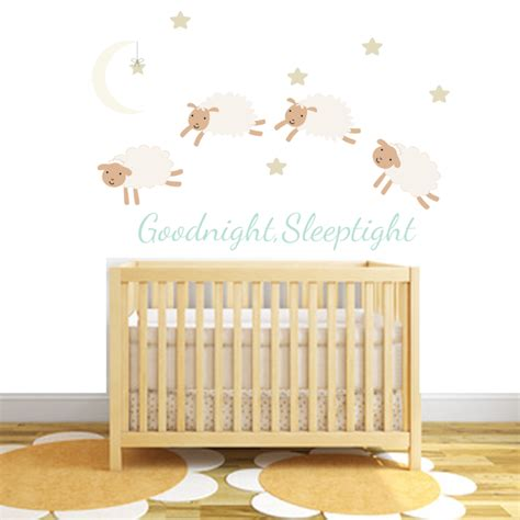 counting sheep fabric wall stickers littleprints