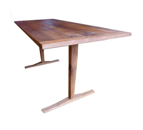 mid century modern trestle table crafted midcentury trestle table reclaimed wood by
