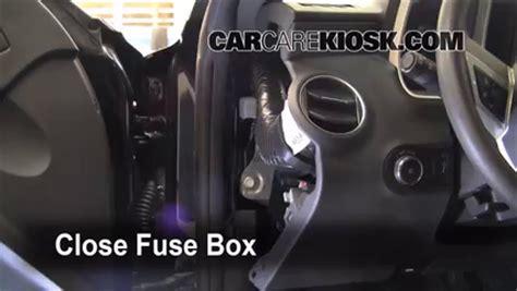 interior fuse box location   chevrolet camaro