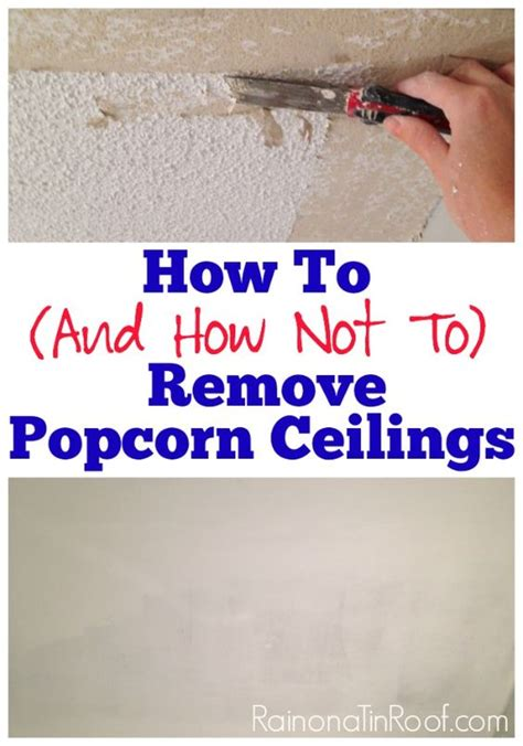 Remove Popcorn Ceiling Diy by How And How Not To Remove Popcorn Ceilings Popcorn