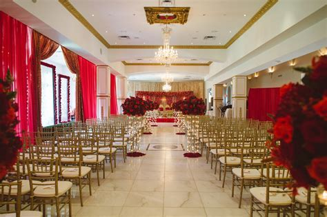 Red & Gold Indian Wedding Ceremony ~ Venue: Chateau